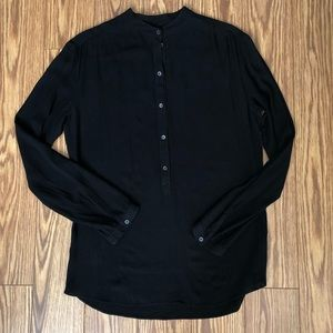 Aritzia Wilfred Black Viscose Blouse XS
